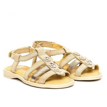 sandale piele fete bej