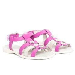 sandale fete din piele lila