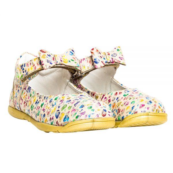 pantofiori din piele cu fundita