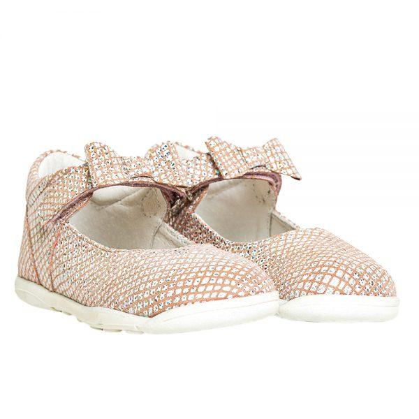 pantofiori din piele roz