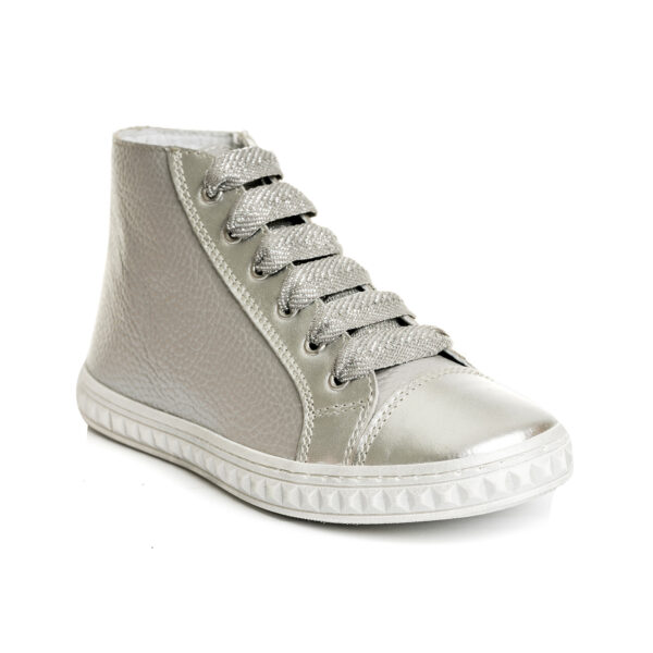 sneakers argintii fete